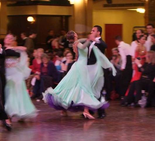 TC Sophie Timbers and Ali Naeem dancing the Quickstep