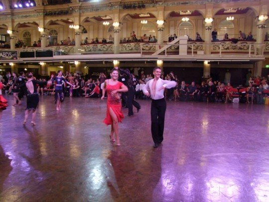 TC Bethan Edwards and partner Laurence Lovell dancing to the Latin beat