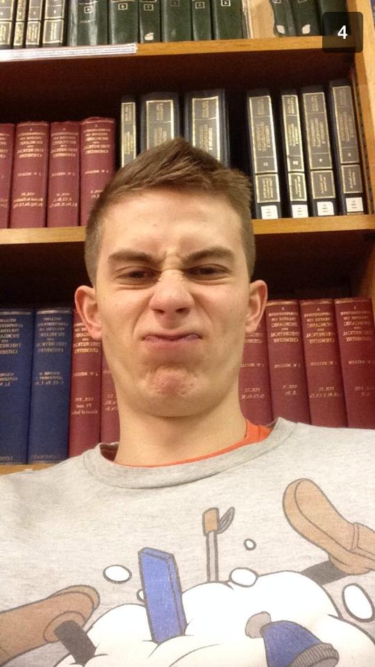 The library selfie - a classic.