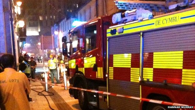 Source: BBC. A photo from the moment the fire-fighters arrived.