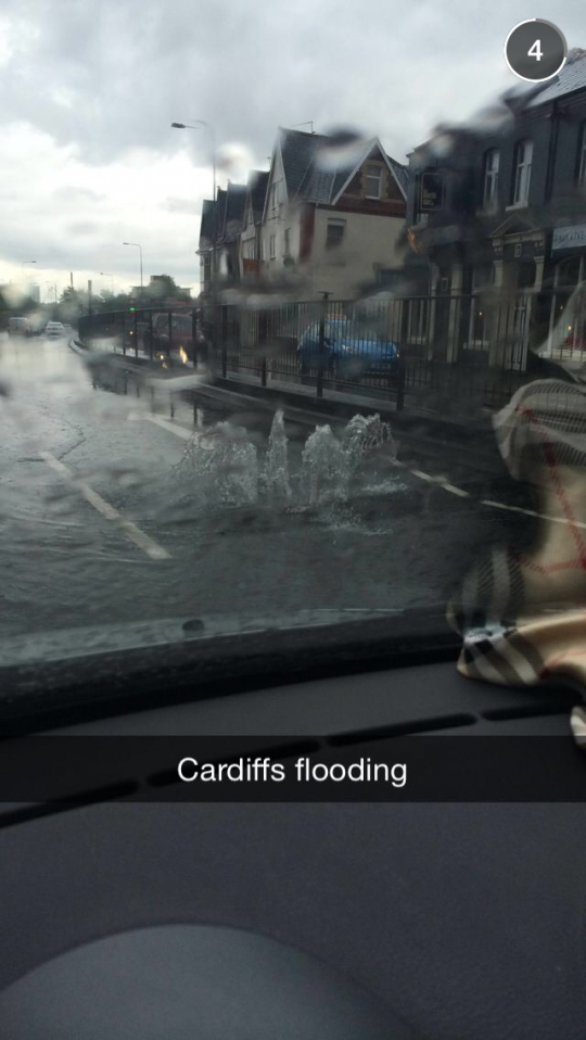 A fairly standard Snapchat to receive from Cardiff.