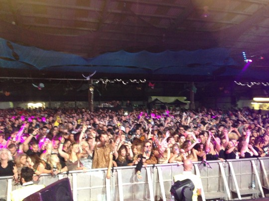 The crowd for Dimension, one of the headline acts.