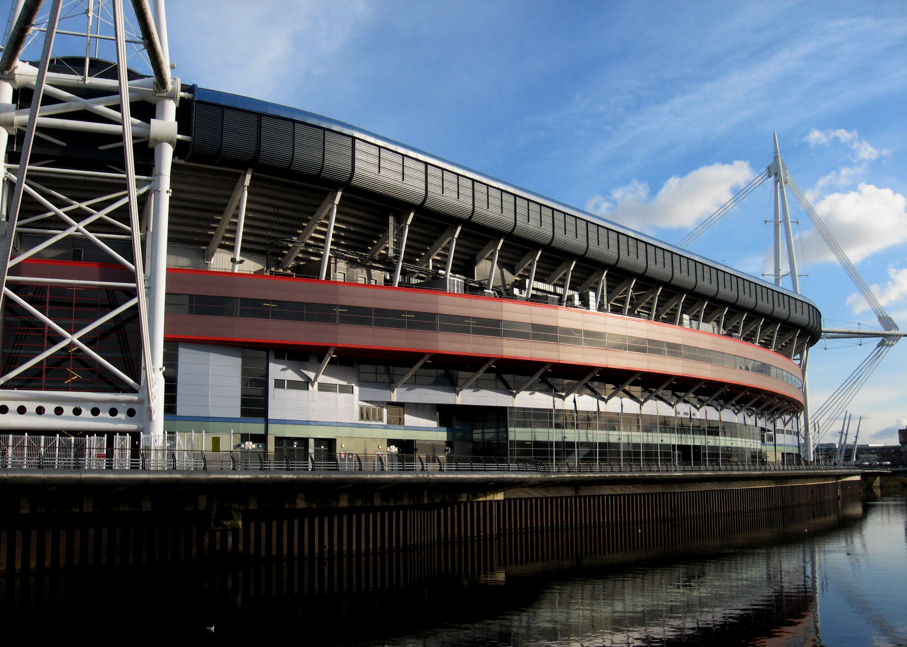 This is what the Millennium Stadium looks like when it's not raining.
