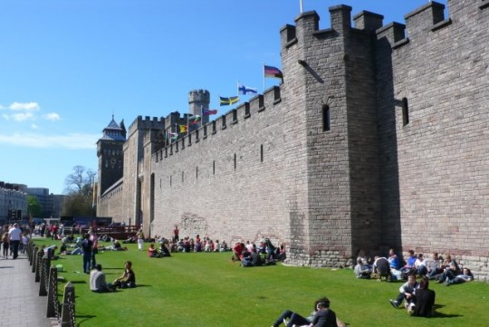 This is what the castle looks like when it's not raining.