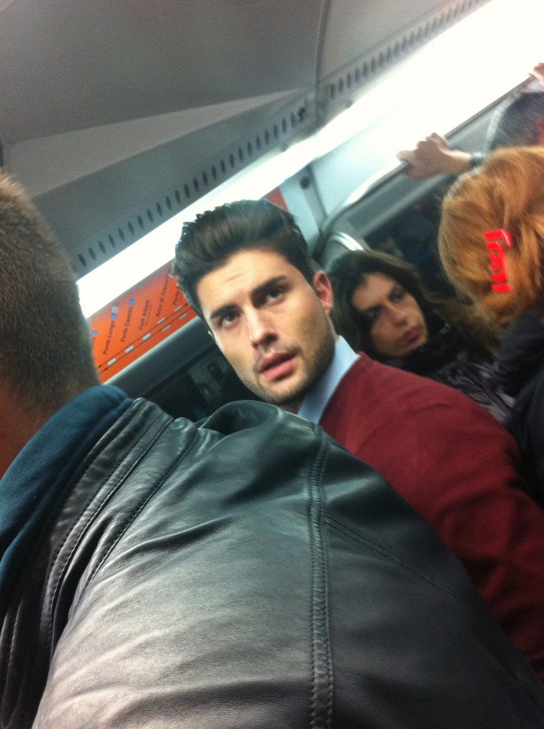 This is an Italian man I saw on the metro and wanted in my pants. I would have let him do my translation any time.
