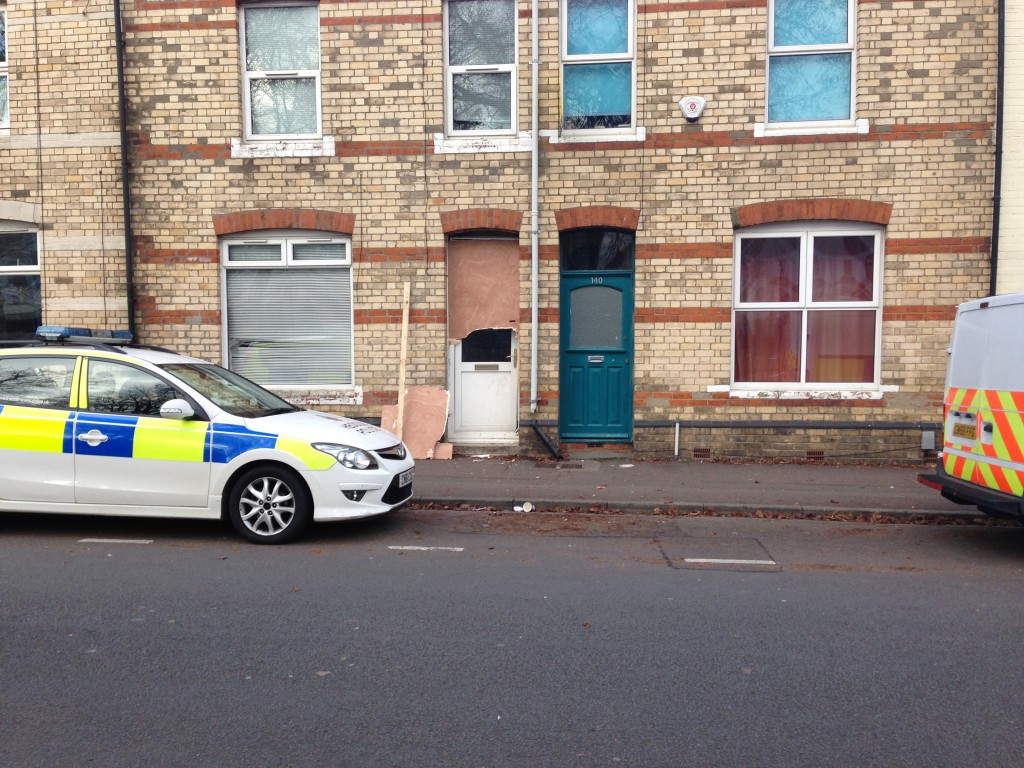 The property on Miskin Street which the police raided.