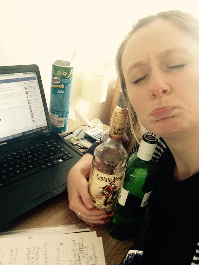 It's much better to have Gordon and Captain Morgan by your side when doing your diss