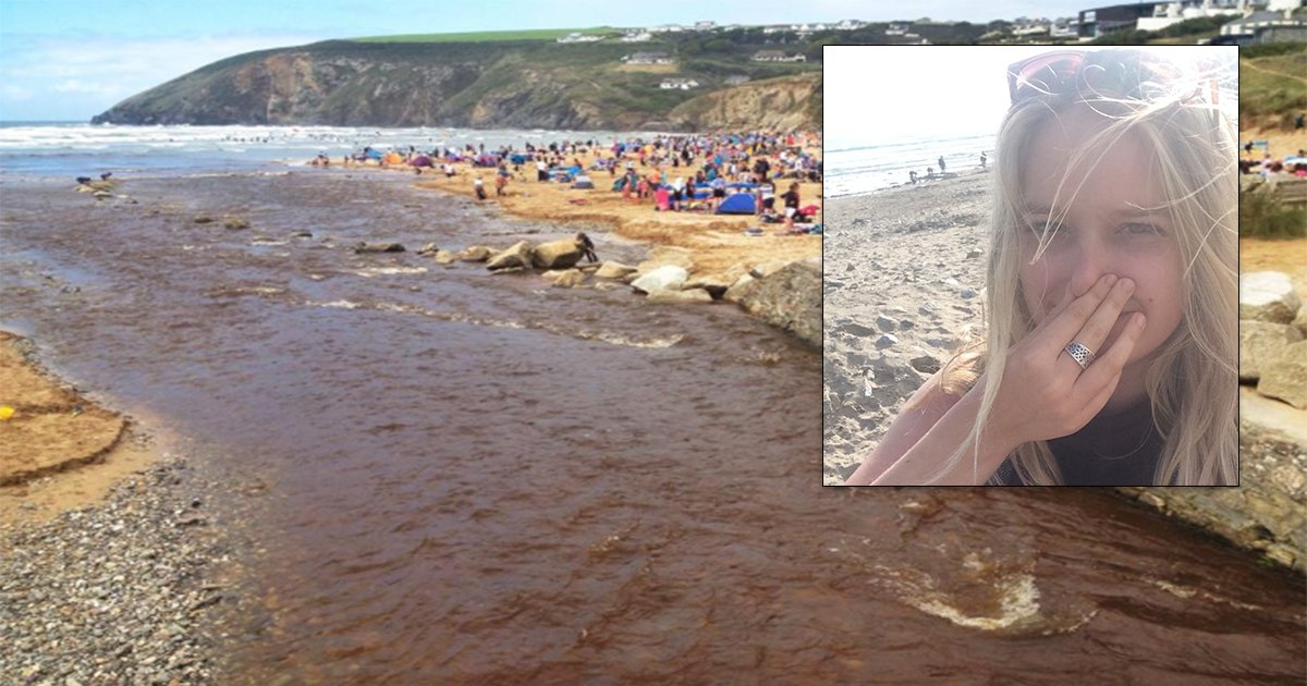 Cornwall's Closed Beaches Are Overflowing With Raw Sewage