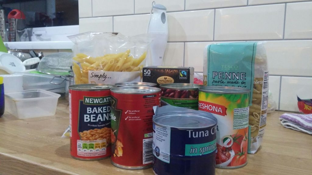 Tinned and dry foods have been requested