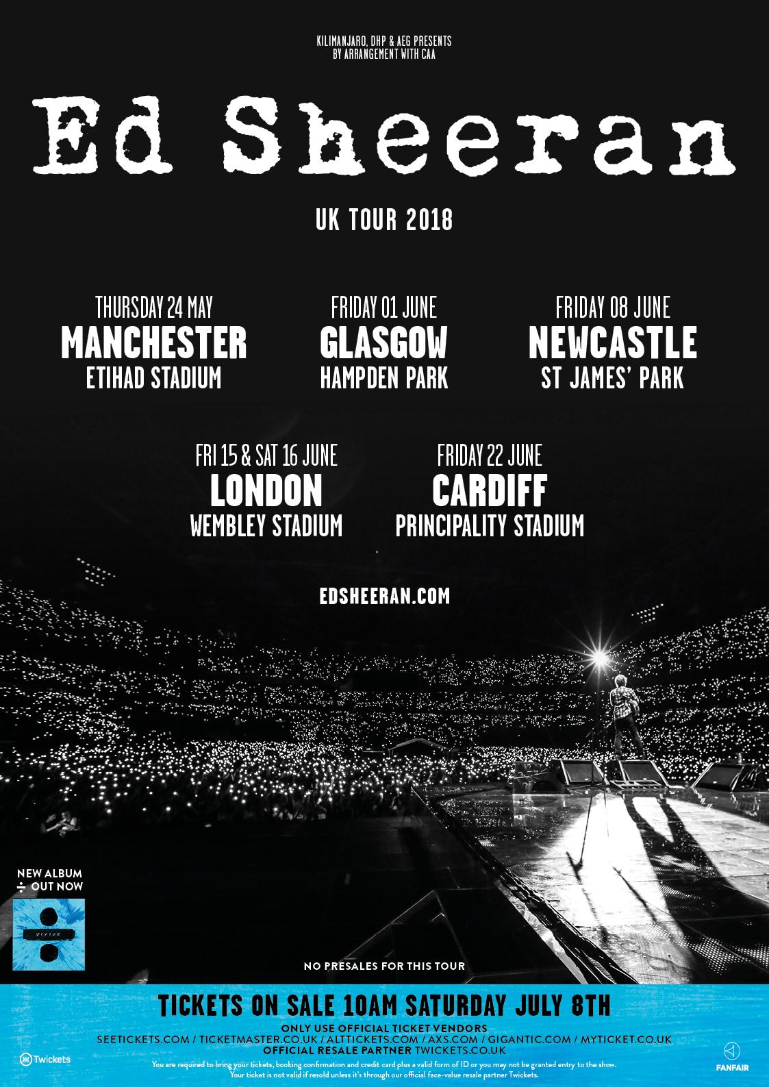 Ed Sheeran Stadium Tour Dates