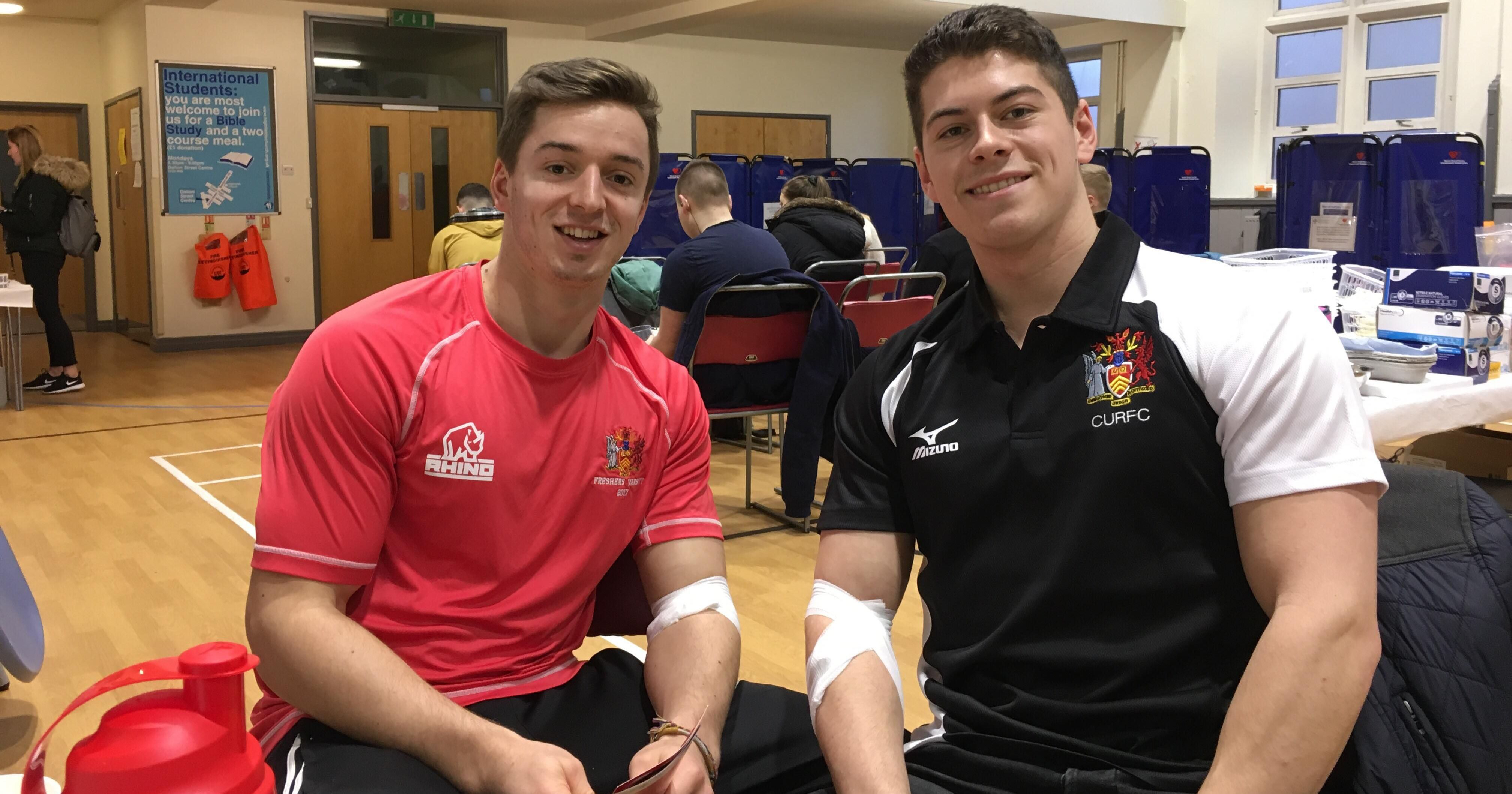 The Cardiff Uni Mens Rugby Team Have Donated Over 50 Pints
