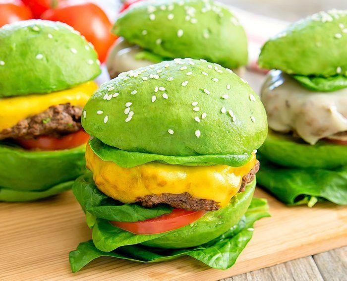 Image may contain: Food, Burger