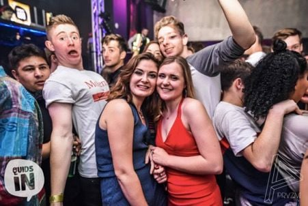 Image may contain: Night Life, Night Club, Club, Crowd, Party, Person, People, Human