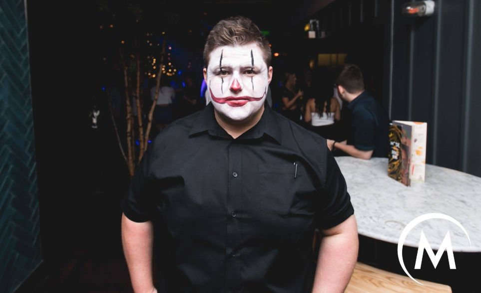 Image may contain: Night Life, Performer, Clown, Person, People, Human