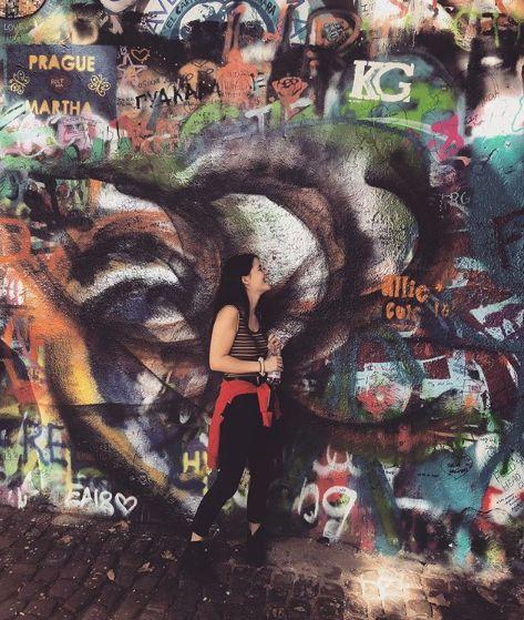 Image may contain: Mural, Art, Painting, Graffiti, Human, Person