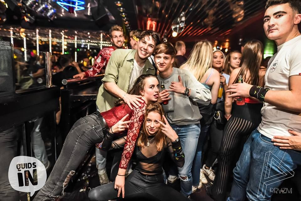 Image may contain: Leisure Activities, Pants, Clothing, Apparel, Night Club, Club, Party, Night Life, Person, Human
