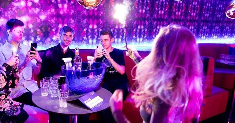 Image may contain: Night Life, Disco, Night Club, Club, Person, Human