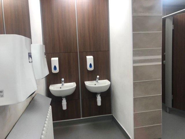 Image may contain: Bathroom, Corner, Indoors, Room, Sink