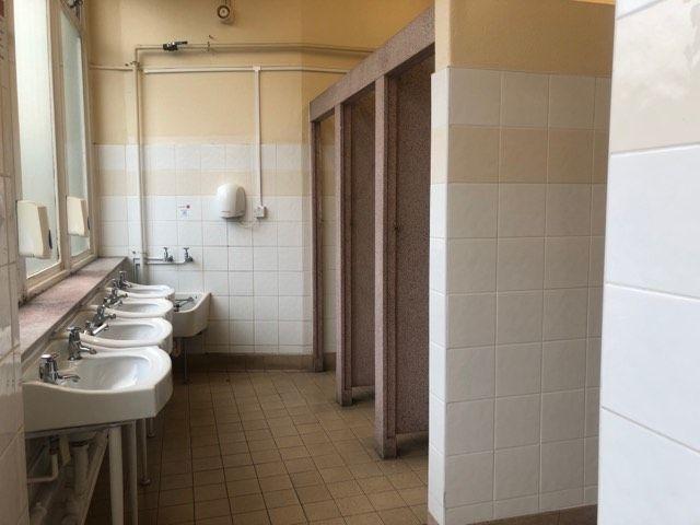 Image may contain: Shower, Sink, Floor, Bathroom, Indoors, Room