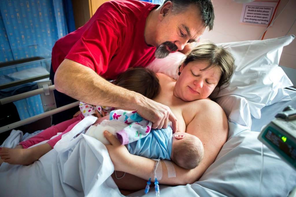 Miira and Jim at the birth of Ray Lee