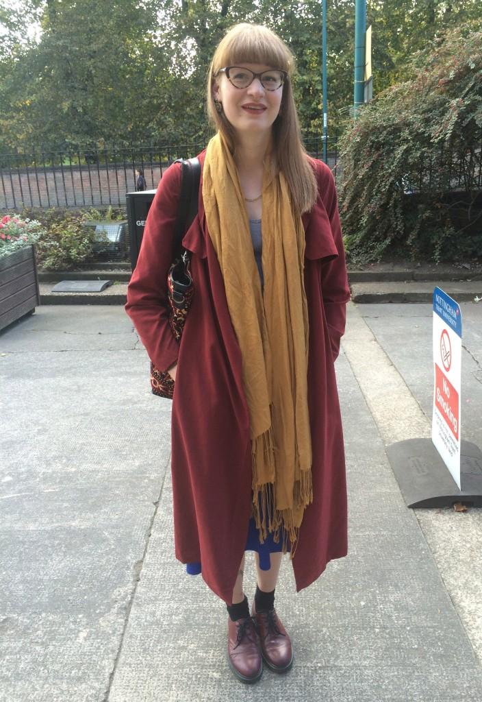 Holly Barrett, Costume Design. Coat from Primark