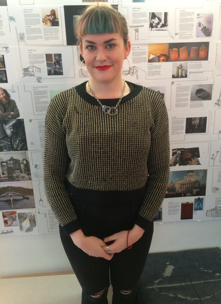 Daisy Godfrey-Evans, Fashion Knitwear and Knitted Textiles. Necklace is from Marc Jacobs