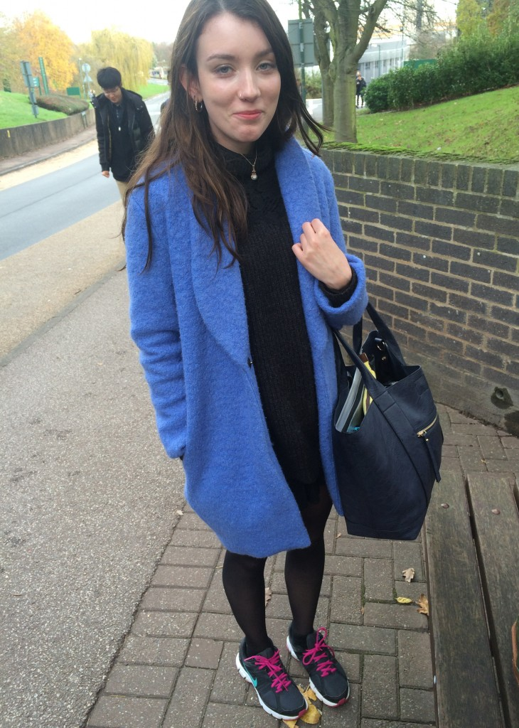 Jade Jenkinson, History of Art and English Literature. Coat is from a vintage shop