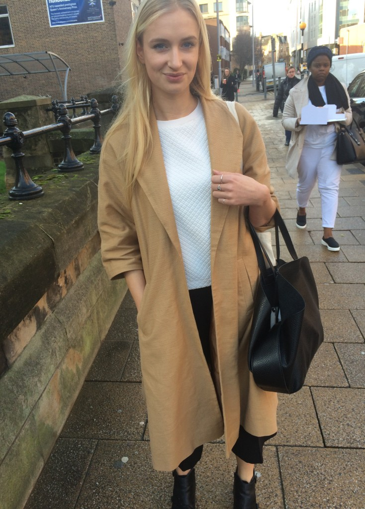Julia Harvey, Fashion Communication and Promotion. Quilted jumper is from Topshop