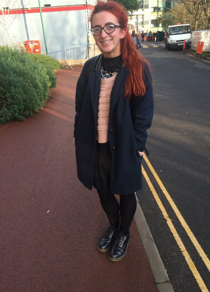 Ruth Atkinson, English. Necklace is from Topshop and jumper is from Tk Maxx