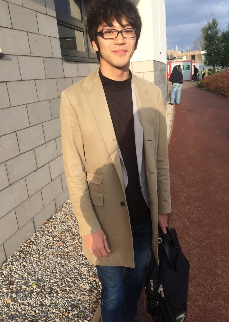 Yotaro Ebina, Economics. Coat is from Club Monaco
