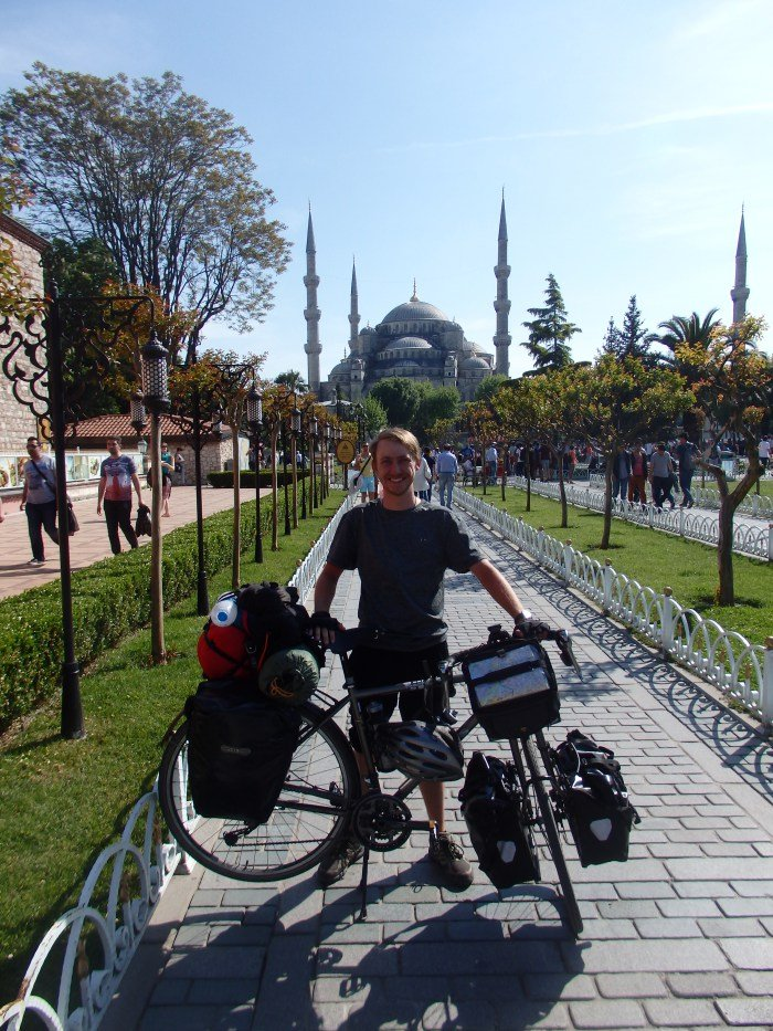 JKB at the Blue Mosque in Istanbul