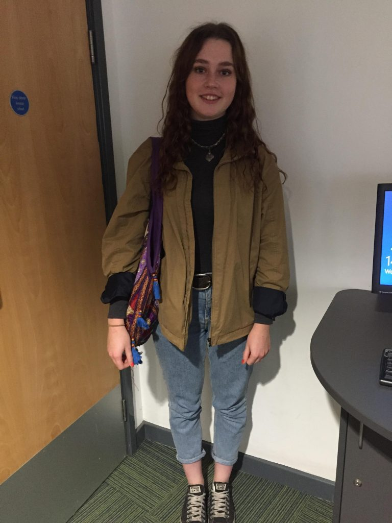 Rachel Mann, Psychology- Second Year. Bag is from a vintage store in Mallorca
