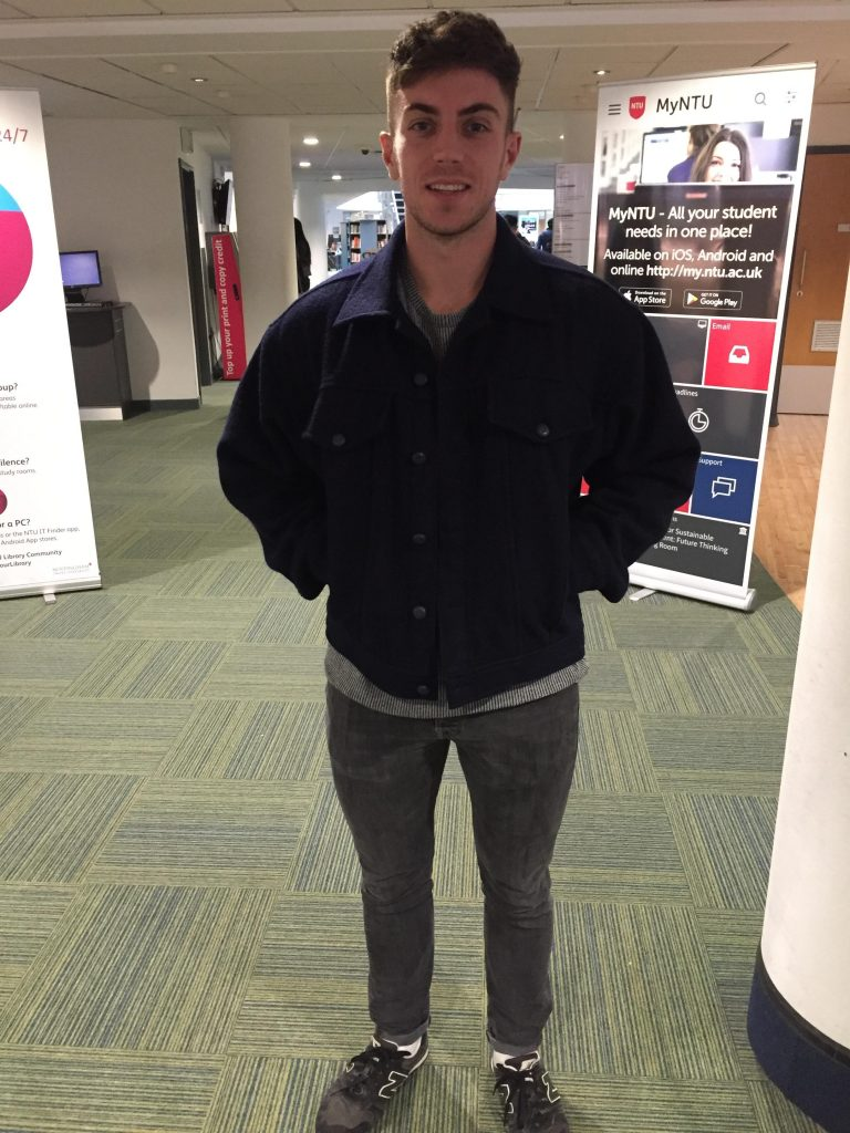 Conor Hills, Building Surveying. Coat is from Scrooge and jeans are Jack Wills