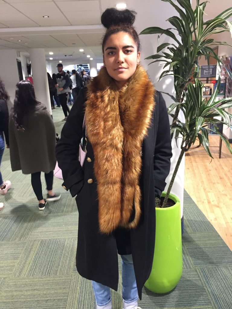 Laura Power, Branding Masters. Coat is from River Island and fur scarf is Miss Selfridge