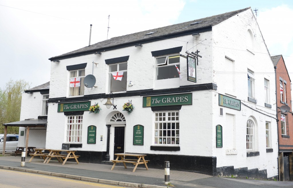 The Grapes pub in Bolton, where the Lakeman brothers' bodies were discovered