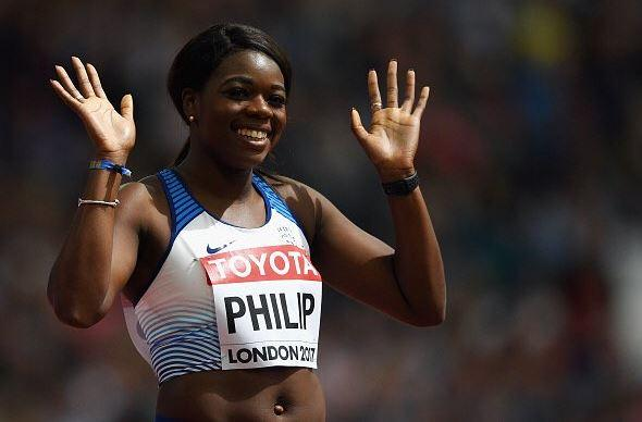 Asha Philip gained a medal for her performance in the 4x100m relay
