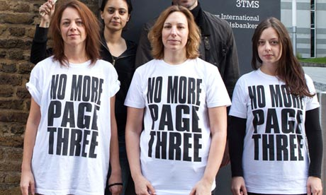 """The """"No More Page Three"""" campaign launched via Twitter"""
