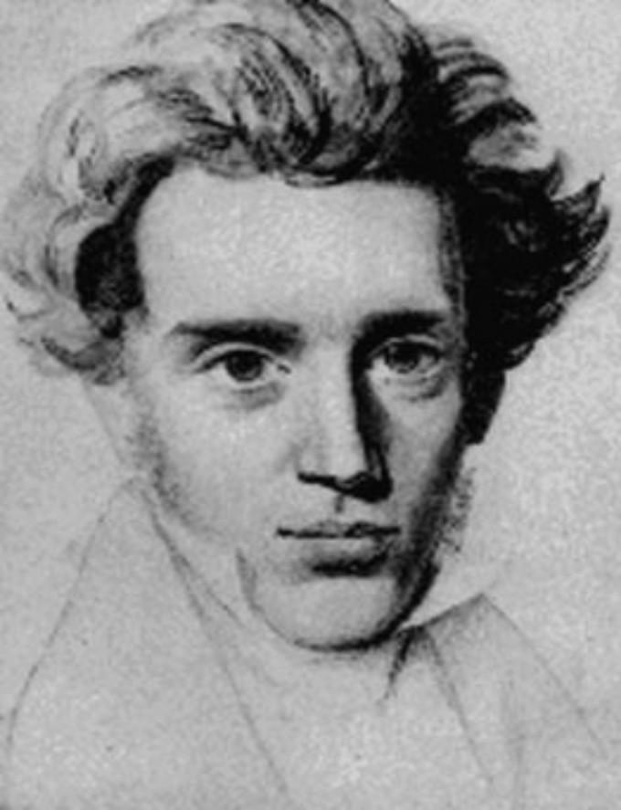 Kierkegaard posing for a #selfie