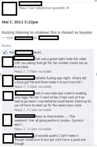 The C Team Boasting on Facebook