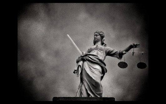 Lady Justice taking an off day