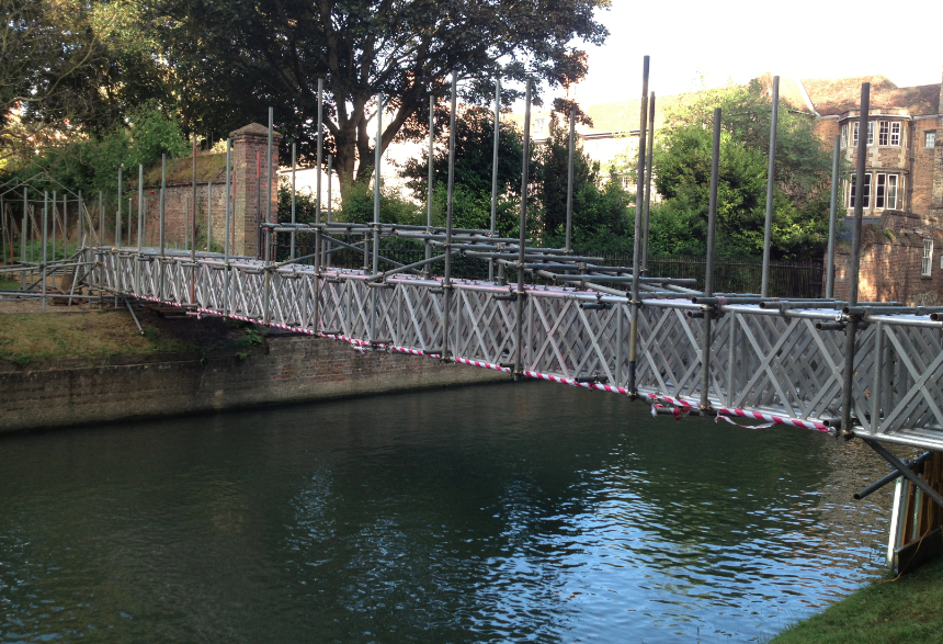 The bridge, far from finished, will be completed in the next couple of days