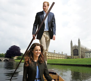 William and Kate on a Punt, ,An 'Artists Impression' - Cambridge News