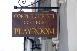 Corpus Playroom Sign