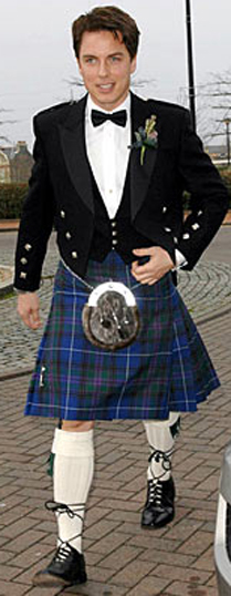John Barrowman (a known homosexual) wearing a kilt. Correlation… or causation??
