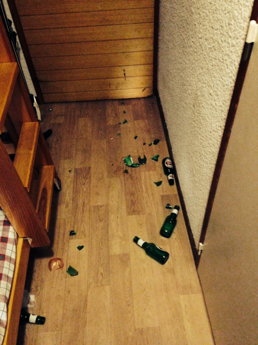 The scene after Stella the cleaner had paid her visit