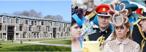 Fitz architecture and Princess Beatrice's hat - both questionable