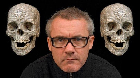 Damien Hirst and his famous diamond skulls