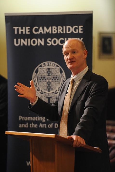 Willetts speaking at the Union on Friday