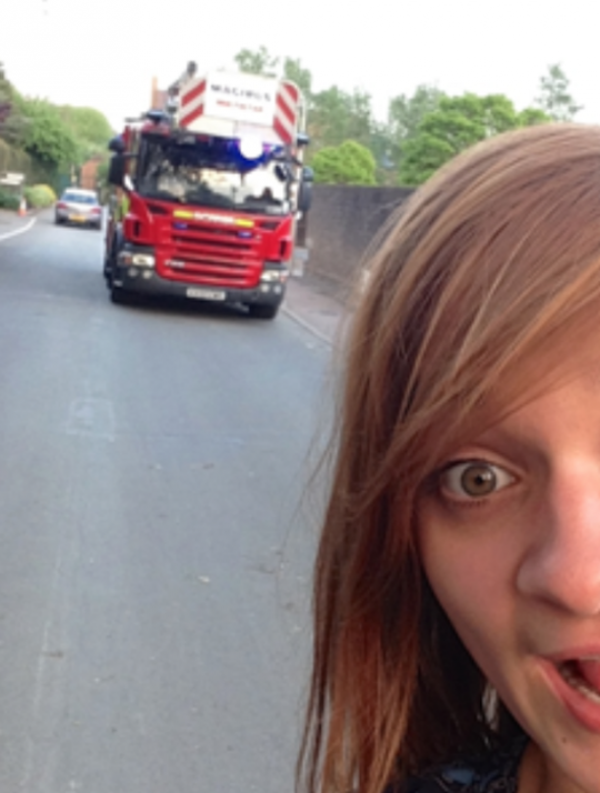 College is burning! But wait… lemme take a selfie