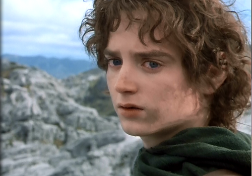 Frodo on Castle Mound, moments before he enters his History of Political Thought exam